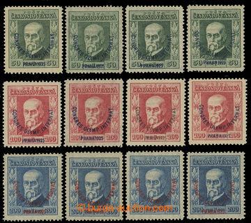 223596 - 1925 Pof.180-182, Kongres 50h - 200h, kompletní sestava dle