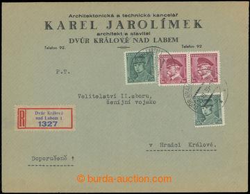223625 - 1939 1. DEN / protektorátu ČaM, firemní R dopis vyfr. zn.