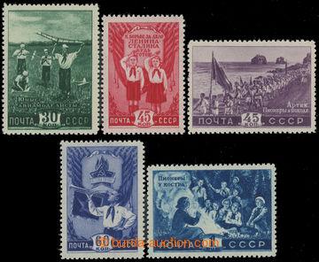 223626 - 1948 Mi.1275-1279, Pionýři 30K - 1R; kompletní série, ka