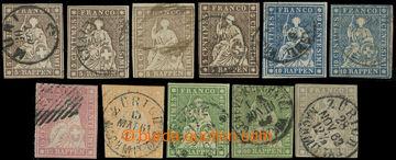 223634 - 1854-1862 Mi.13II (4x), 14II (2x), 15II, 16II, 17II (2x), 19