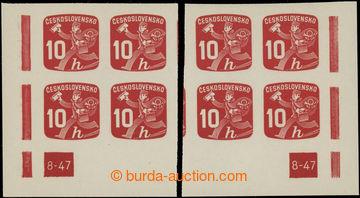 223636 - 1945 Pof.NV24, Novinová 10h červená, levý a pravý rohov