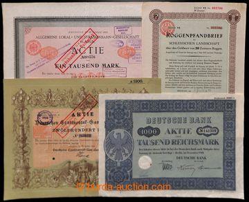 223647 - 1896-1940 NĚMECKO / sestava 10ks různých německých akc�
