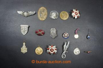 223653 - 1910-1979 EVROPA/ sestava 17ks různých odznaků, vojenské