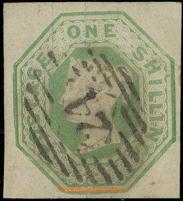 223658 - 1847 SG.54, Embossed 1Sh světle zelená, luxusní čtvercov