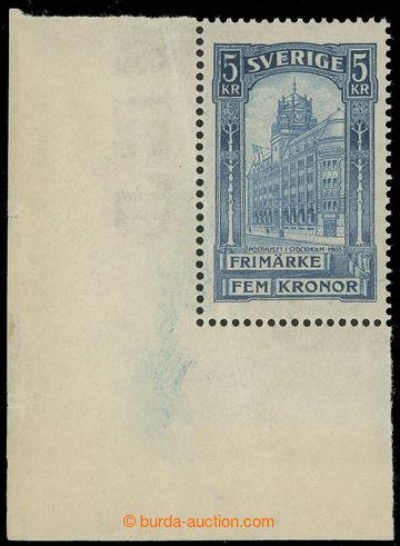 223663 - 1903 Mi.54, Hlavní pošta ve Stockholmu 5Kr modrá, luxusn�