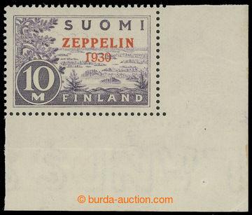 223664 - 1930 Mi.161, Zeppelin 1930; luxusní pravý dolní rohový k