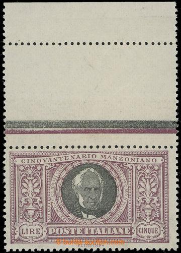 223667 - 1923 Mi.193, Manzoni 5L fialová / černá; luxusní kus s h