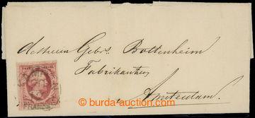 223668 - 1857 malý skládaný dopis do Amsterdamu vyfr. zn. Mi.2, Vi