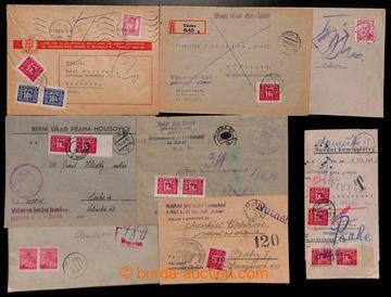 223699 - 1945-1948 sestava 19ks převážně úředních celistvostí