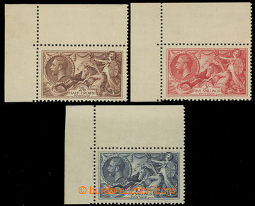 223701 - 1934 SG.450-452, Seahorses 2Sh6P - 10Sh Waterlow re-engraved