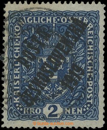223774 -  Pof.48Ia-ZT, Znak 2K tmavě modrá, úzký formát, II. typ