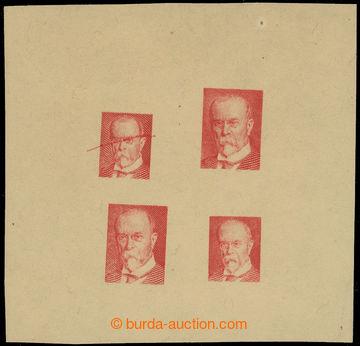 223776 - 1920 ZT  zkusmý soutisk 4 rytin portrétu TGM ve dvou velik