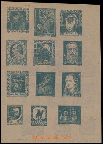 223777 - 1919 RIJÁČEK Jaroslav / oboustranný soutisk 12ks různýc