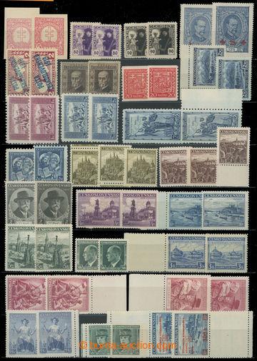 223787 - 1919-1939 BAREVNÉ ODSTÍNY / sestava 35 výplatních, pří