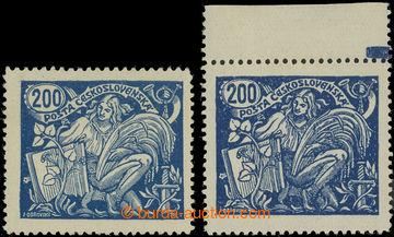 223827 -  Pof.174A, 200h modrá, 2ks - II. a III. typ s ŘZ 13¾; sv�