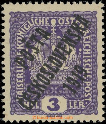223837 -  Pof.33x, Koruna 3h fialová, tlustý papír, II. typ; bez n