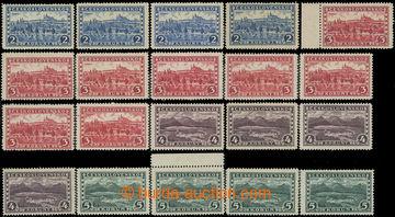 223844 - 1926 Pof.225-228, Praha, Tatry 2Kč - 5Kč, kompletní sesta