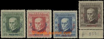 223855 - 1926 Pof.183-186, Slet 50h - 300h, základní série, různ�