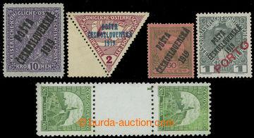 223860 - 1919-1934 SESTAVA / 5 vybraných známek s novými lepy (!):
