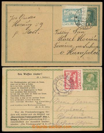 223979 - 1919-1920 CPŘ, Mi.P216 + Mi.P229, rakouské dopisnice použ