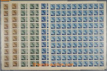 224018 - 1945 ARCHOVINA / Pof.373, 374, 375, Lipová ratolest, sestav