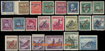 224021 - 1939 Sy.2-22, Přetisková emise 5h - 10Kč; kompletní, př