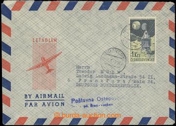 224023 - 1963 OSTOPOVICE / Brno - venkov, modré řádkové raz. na L