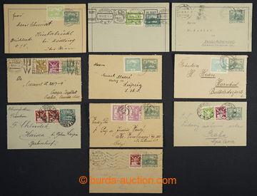 224101 - 1919-1923 CZL1 + CZL1Pa, comp. 10 pcs of letter cards used i