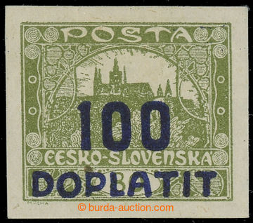 224149 - 1922 Pof.DL24, Výpotřební Hradčany 100/80h olivová, fia