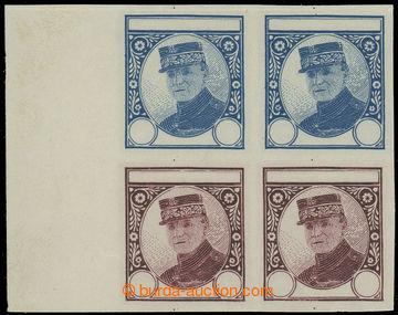 224153 - 1919 ZT  nepřijatý návrh známky Štefánik, zkusmý otis