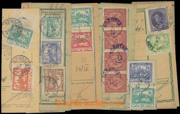 224240 - 1918-1919 JEDNOKRUHOVÁ RAZÍTKA / sestava 10ks ústřižků