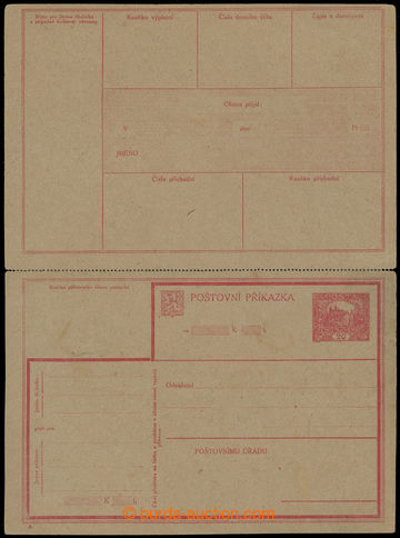 224274 - 1920 CPV3A, order card Hradčany 20h red, without sale price