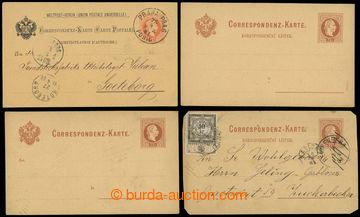 224357 - 1880-1881 Mi.25 and 26b, PC 2 Kreuzer Franz Joseph I. brown,