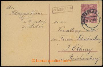 224446 - 1919 BÝNOVEC (Arnoltice u Děčína), řádkové raz. *BINS