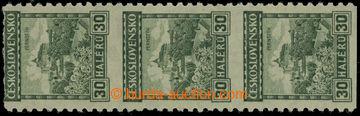 224472 - 1926 Pof.210, Hrady 30h zelená svitková, svislá 3-páska