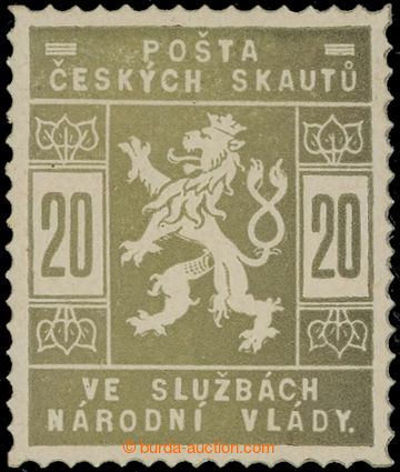 224476 -  ZT  hodnoty 20h v olivové barvě; po nálepce, zk. Vrba