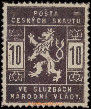 224478 -  ZT  hodnoty 10h v tmavě hnědé barvě; po nálepce, zk. V