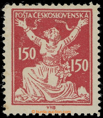 224500 -  Pof.159B, 150h red with line perforation 13¾, type I.; min