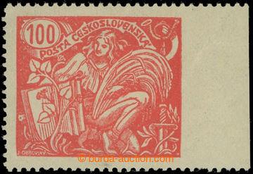 224502 -  Pof.173A VV, 100h červená, krajový kus s VV - vynechané