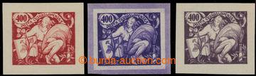 224511 -  ZT  3x hlubotiskový zkusmý tisk hodnoty 400h v červené