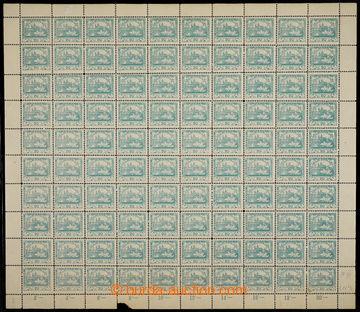 224532 -  ARCHOVINA / Pof.8D, 20h modrozelená, kompletní 100ks arch
