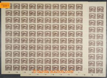 224553 -  ARCHOVINA / Pof.1, 1h hnědá, 2x kompletní 100ks arch, TD