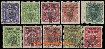 224567 -  SESTAVA / Pražský přetisk I a II, sestava 10 upotřeben�