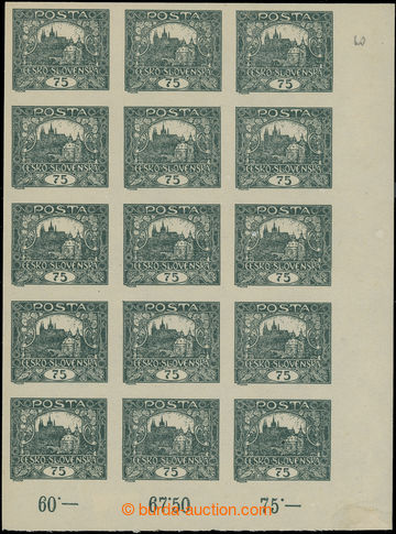 224576 -  Pof.18, 75h šedozelená, pravý dolní rohový 15-blok s p