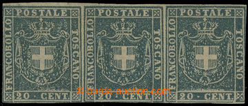 224637 - 1860 TOSKÁNSKO / GOVERNO PROVVISORIO, Sass.20c, 3-páska Zn