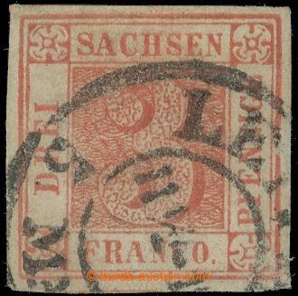 224640 - 1850 €Mi.1a, slavná Saská Trojka s DR LEIPZIG; velice kv