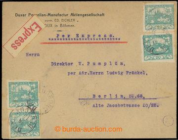 224655 - 1919 firemní Ex dopis zaslaný do Německa v I. TO vyfr. 4-