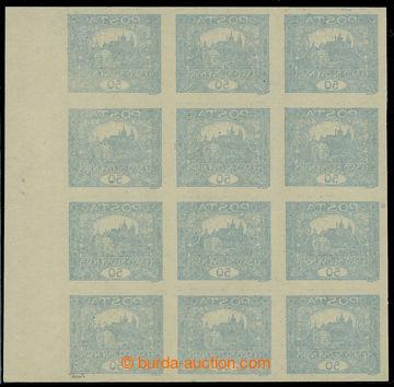 224687 -  Pof.16 Ob, 50h modrá, 12-blok s pravým okrajem s obtiskem