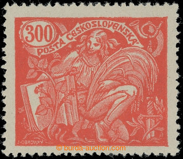 224706 -  Pof.166B, 300h red, comb perforation 13¾ : 13½; mint neve