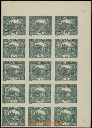 224721 -  Pof.18, 75h šedozelená, pravý horní rohový 15-blok, TD